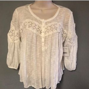 NWT White free people blouse top size XS